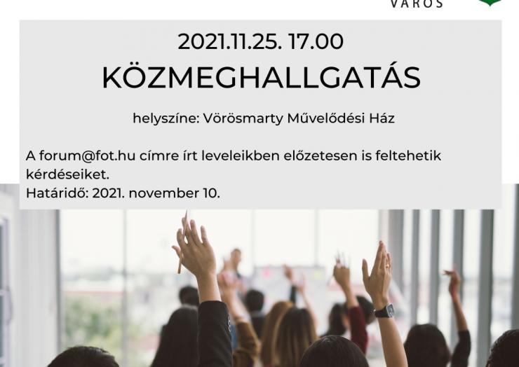 Közmeghallgatás 2021.11.25 17:00óra